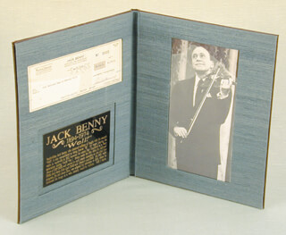 JACK BENNY - AUTOGRAPHED SIGNED CHECK 05/05/1965