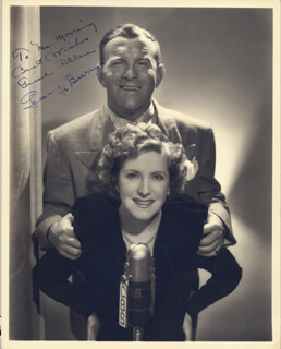 GEORGE BURNS - AUTOGRAPHED INSCRIBED PHOTOGRAPH CO-SIGNED BY: GRACIE ALLEN