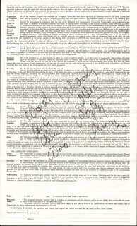 WOODY ALLEN - DOCUMENT MULTI-SIGNED