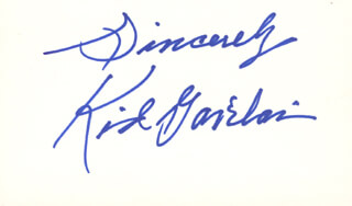 KID GAVILAN - AUTOGRAPH SENTIMENT SIGNED