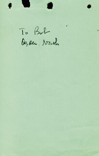OGDEN NASH - INSCRIBED SIGNATURE CO-SIGNED BY: AL HIRSCHFELD