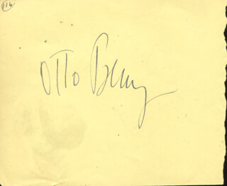OTTO PREMINGER - AUTOGRAPH CO-SIGNED BY: ARLEEN WHELAN