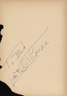 LOWELL THOMAS - INSCRIBED SIGNATURE