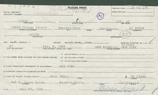 EDDIE FOY JR. - DOCUMENT SIGNED 05/23/1952