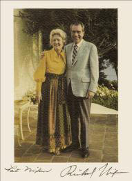 PRESIDENT RICHARD M. NIXON - AUTOGRAPHED SIGNED PHOTOGRAPH CO-SIGNED BY: FIRST LADY PATRICIA R. NIXON