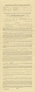 ADOLPHE MENJOU - CONTRACT SIGNED 02/05/1943 CO-SIGNED BY: ANDREW STONE