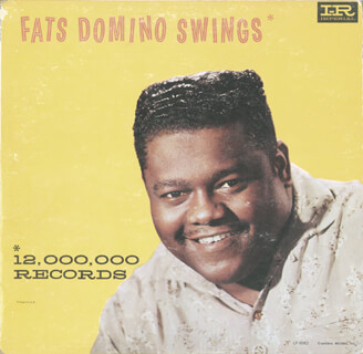 FATS DOMINO - RECORD ALBUM COVER SIGNED