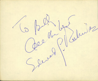 EDWARD G. ROBINSON - AUTOGRAPH NOTE SIGNED CO-SIGNED BY: CAB CALLOWAY