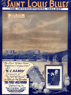 Autographs: W.C. HANDY - INSCRIBED SHEET MUSIC SIGNED 02/20/1950