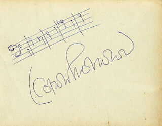 LEOPOLD STOKOWSKI - AUTOGRAPH MUSICAL QUOTATION SIGNED