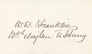 Autographs: MAJOR GENERAL WILLIAM B. FRANKLIN - SIGNATURE(S)