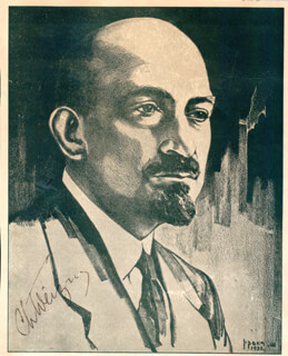 Autographs: PRESIDENT CHAIM WEIZMANN (ISRAEL) - ILLUSTRATION SIGNED
