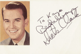 DICK CLARK - AUTOGRAPH NOTE SIGNED