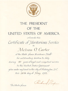 PRESIDENT RICHARD M. NIXON - DOCUMENT SIGNED 05/26/1972