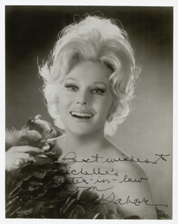 EVA GABOR - AUTOGRAPHED INSCRIBED PHOTOGRAPH