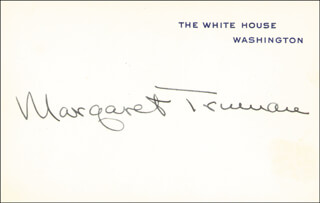 MARGARET TRUMAN - WHITE HOUSE CARD SIGNED