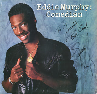 EDDIE MURPHY - INSCRIBED RECORD ALBUM SIGNED