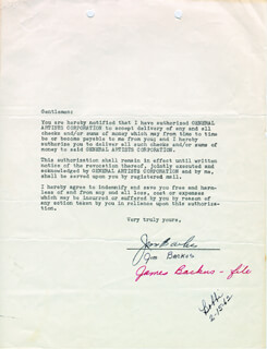 JIM BACKUS - DOCUMENT SIGNED