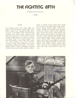 JAMES CAGNEY - MAGAZINE PAGE SIGNED