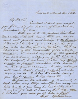 JESSE WILLIAMS - AUTOGRAPH LETTER SIGNED 03/31/1853