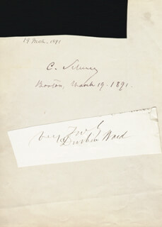 MAJOR GENERAL CARL SCHURZ - AUTOGRAPH 03/19/1891 CO-SIGNED BY: BRIGADIER GENERAL DURBIN WARD