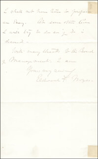 BRIGADIER GENERAL EDWARD FOLLANSBEE NOYES - AUTOGRAPH LETTER SIGNED 10/24/1881