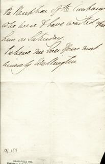 DUKE (ARTHUR WELLESLEY) OF WELLINGTON (GREAT BRITIAN) - AUTOGRAPH LETTER SIGNED 05/30