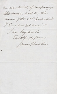 JAMES GLAISHER - AUTOGRAPH LETTER SIGNED 02/17/1857
