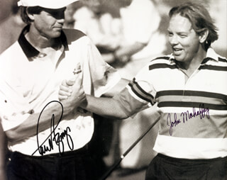 Autographs: PAUL AZINGER - PHOTOGRAPH SIGNED CO-SIGNED BY: JOHN MAHAFFEY