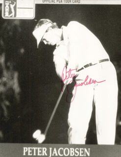 PETER JACOBSEN - AUTOGRAPHED SIGNED PHOTOGRAPH