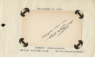ROBERT MONTGOMERY - AUTOGRAPH SENTIMENT SIGNED CIRCA 1935