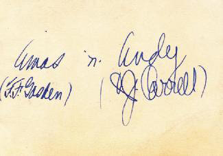 Autographs: THE AMOS 'N' ANDY RADIO CAST - SIGNATURE(S) CO-SIGNED BY: CHARLES ANDY CORRELL, FREEMAN AMOS GOSDEN