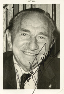 RUDOLF FRIML - AUTOGRAPHED SIGNED PHOTOGRAPH