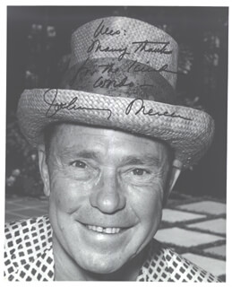 JOHNNY MERCER - AUTOGRAPHED SIGNED PHOTOGRAPH
