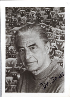 THEODOR DR. SEUSS GEISEL - AUTOGRAPHED SIGNED PHOTOGRAPH
