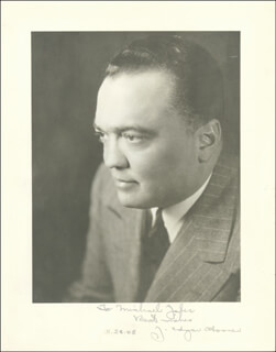 J. EDGAR HOOVER - AUTOGRAPHED INSCRIBED PHOTOGRAPH 05/28/1948  - HFSID 169235