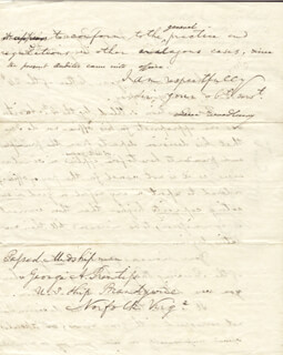 ASSOCIATE JUSTICE LEVI WOODBURY - MANUSCRIPT LETTER SIGNED 05/26/1834