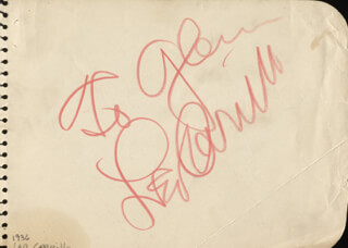 LEO PANCHO CARRILLO - INSCRIBED SIGNATURE CO-SIGNED BY: JANE WITHERS
