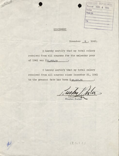 PRESTON S. FOSTER - DOCUMENT SIGNED 11/03/1942