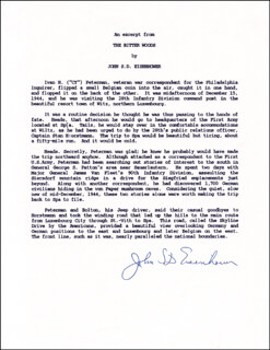 Autographs: BRIGADIER GENERAL JOHN S.D. EISENHOWER - TYPESCRIPT SIGNED