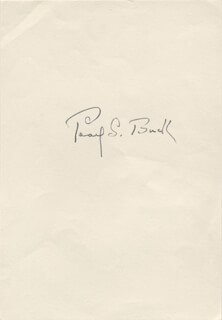 PEARL S. BUCK - AUTOGRAPH