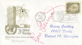 ROSS GUNN - FIRST DAY COVER SIGNED