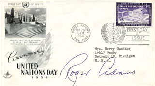 Autographs: ROGER ADAMS - FIRST DAY COVER SIGNED
