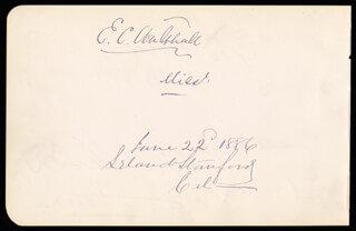 MAJOR GENERAL EDWARD C. WALTHALL - AUTOGRAPH 06/22/1886 CO-SIGNED BY: WILLIAM B. ALLISON, LELAND STANFORD, GEORGE F. HOAR