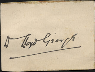 PRIME MINISTER DAVID LLOYD GEORGE (GREAT BRITAIN) - CLIPPED SIGNATURE