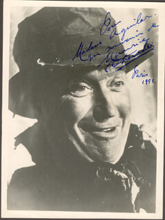 MAURICE CHEVALIER - AUTOGRAPHED SIGNED PHOTOGRAPH 1951