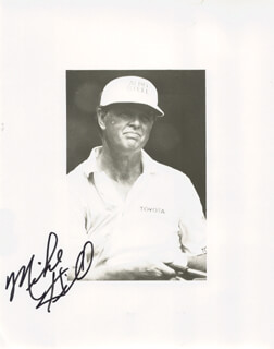 MIKE HILL - AUTOGRAPHED INSCRIBED PHOTOGRAPH