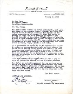 DON TERRY - DOCUMENT SIGNED 01/16/1945