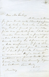 HENRY THEODORE TUCKERMAN - AUTOGRAPH LETTER SIGNED