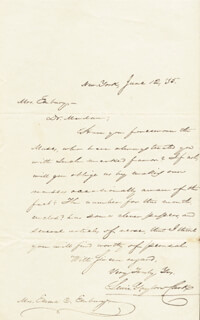 LEWIS GAYLORD CLARK - AUTOGRAPH LETTER SIGNED 06/12/1835
